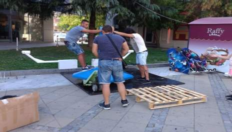 Вятър и светкавици в 9D кино в Благоевград